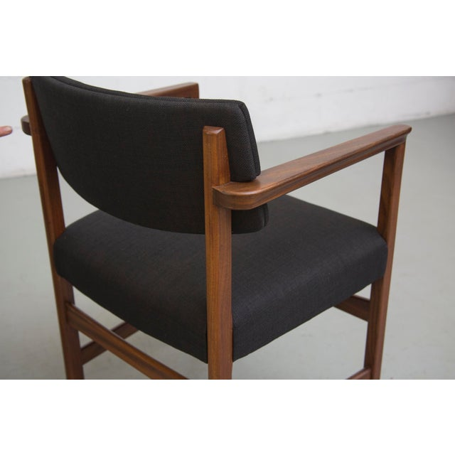 Masculine Danish Mid-Century Dining Chairs - 6 - Image 7 of 11