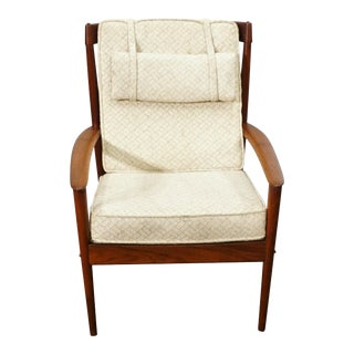 Grete Jalk Lounge Chair by Poul Jeppesen For Sale