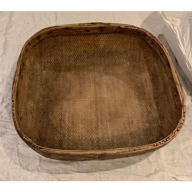 Vintage Asian Market Basket For Sale - Image 4 of 9