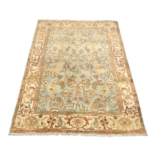 Traditional Hand Woven Wool Area Rug - 4′1″ × 6′