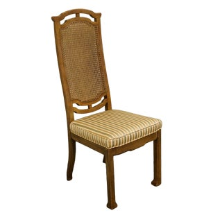 Late 20th Century Thomasville Furniture San Sei Collection Cane Back Dining Chair For Sale