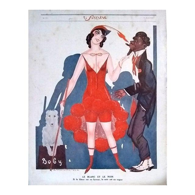 """Sacha Zaliouk 1923 """"Le Blanc Et Le Noir"""" Le Sourire Print - Image 1 of 6"""