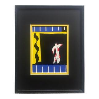 "Henri Matisse Rare Vintage 1991 Jazz Portfolio Framed Lithograph Print "" Le Clown "" 1947 For Sale"