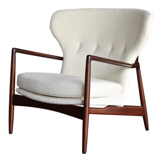 Ib Kofod-Larsen for Selig Wingback Lounge Chair For Sale