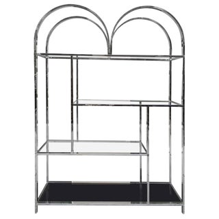 Large Chrome Etagere For Sale