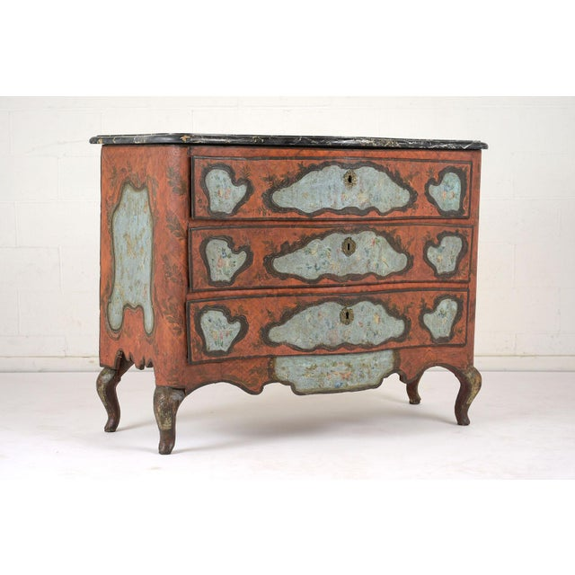 Late 18th Century Polychrome Chest of Drawers For Sale In Los Angeles - Image 6 of 13