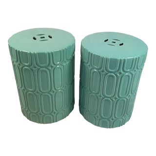1970's Vintage Garden Stools-a Pair For Sale