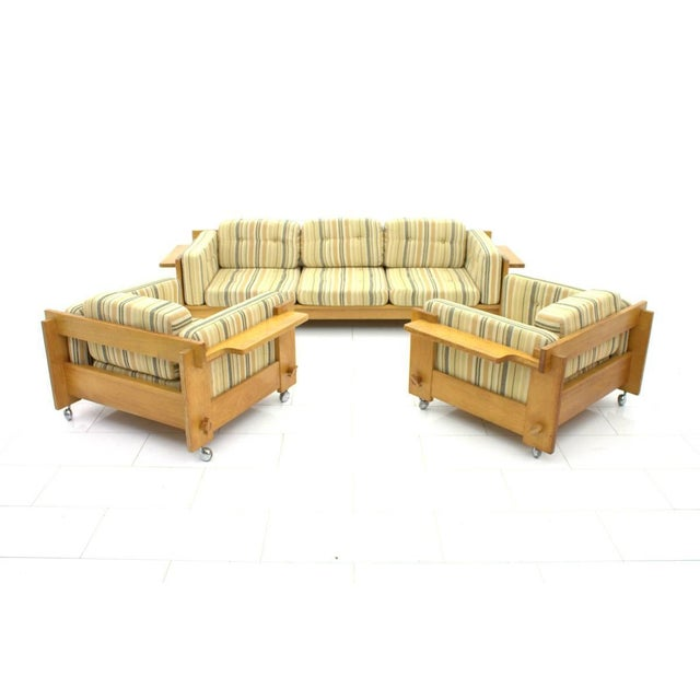 Brown Yngve Ekström Lounge Chairs in Oak for Swedese, Sweden 1960s For Sale - Image 8 of 9