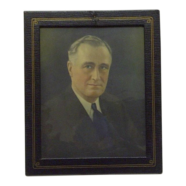 Vintage Photograph President Franklin D. Roosevelt, 1930 - Image 1 of 5