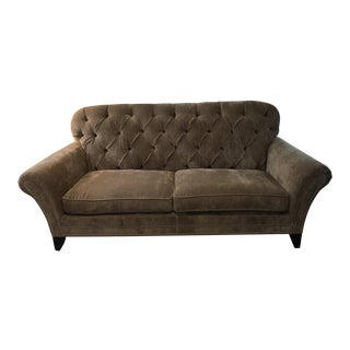 Tufted Back Sofa with Nail Heads