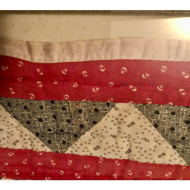 Textile Early 20th Century Framed Doll Quilt For Sale - Image 7 of 13