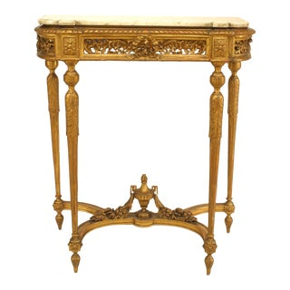 French Louis XVI Style '19th Century' Gilt Console Table For Sale