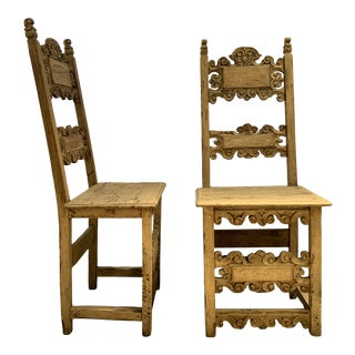 18th Century Hallway Chairs - a Pair For Sale