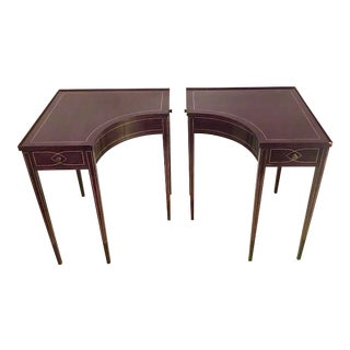Vintage Genuine Mahogany Side Tables by Brandt - a Pair For Sale