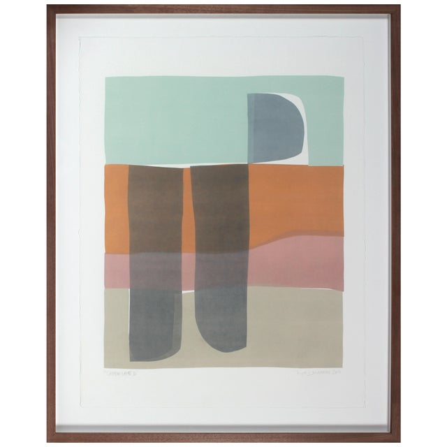 Rob Delamater Canyon Lands III 2019 Monotype For Sale - Image 4 of 4