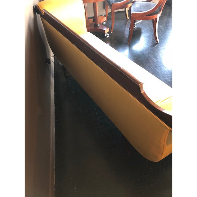 Empire Furniture Yellow Silk Empire Settee For Sale - Image 4 of 12