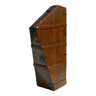 Antique Wooden Harp Case Cocktail Cabinet For Sale