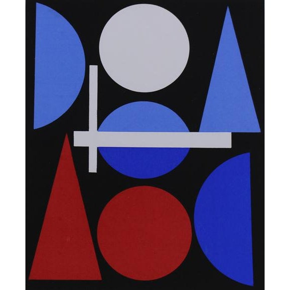 A serigraph by Swiss artist Auguste Herbin printed by the Imprimerie Mazarine and published in 1964 by Galerie Denise...