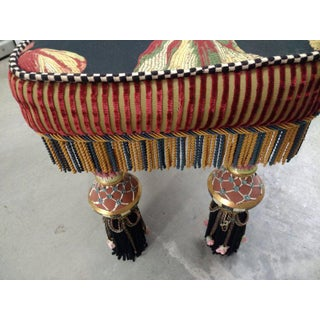 1980s Vintage MacKenzie Childs Floral Bench Preview