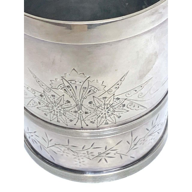Late 19th Century American Aesthetic Silver Plated Champagne/Ice Bucket, by Meriden Silver Co For Sale - Image 5 of 10