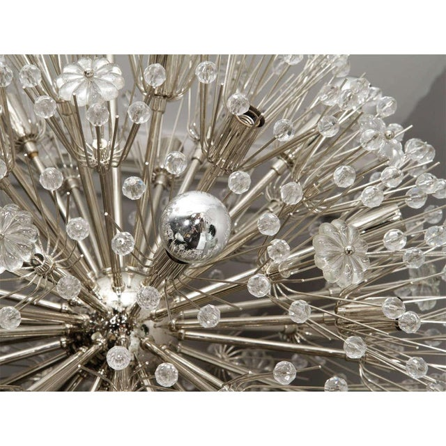 Mid-Century Modern Large 1960s Austrian Snowflake Sputnik Chandelier For Sale - Image 3 of 5