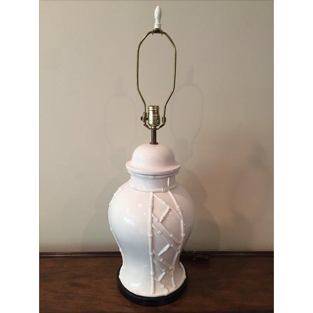 White Bamboo Lamp - Image 2 of 7