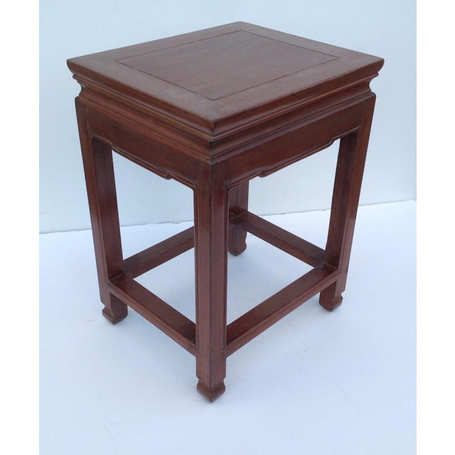 Fruitwood Asian Oak Low Occasional Side Table For Sale - Image 7 of 11