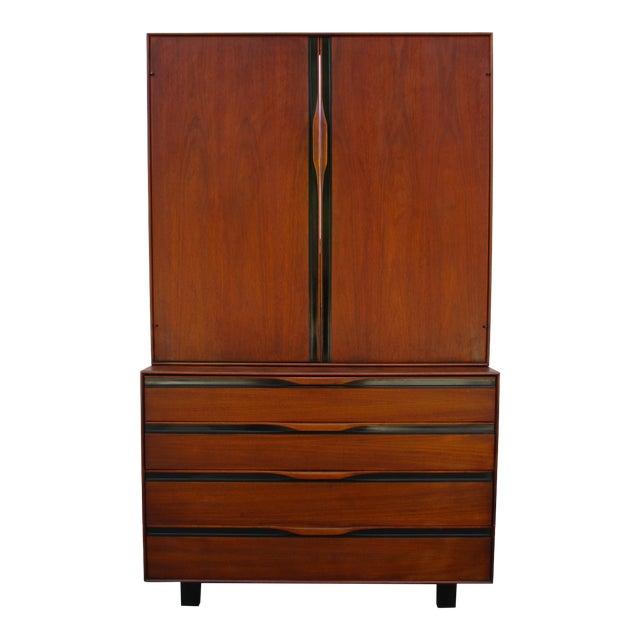John Kapel for Glenn of California Walnut Armoire or Dresser For Sale