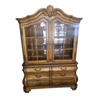 Tuscan Ethan Allen China Cabinet For Sale