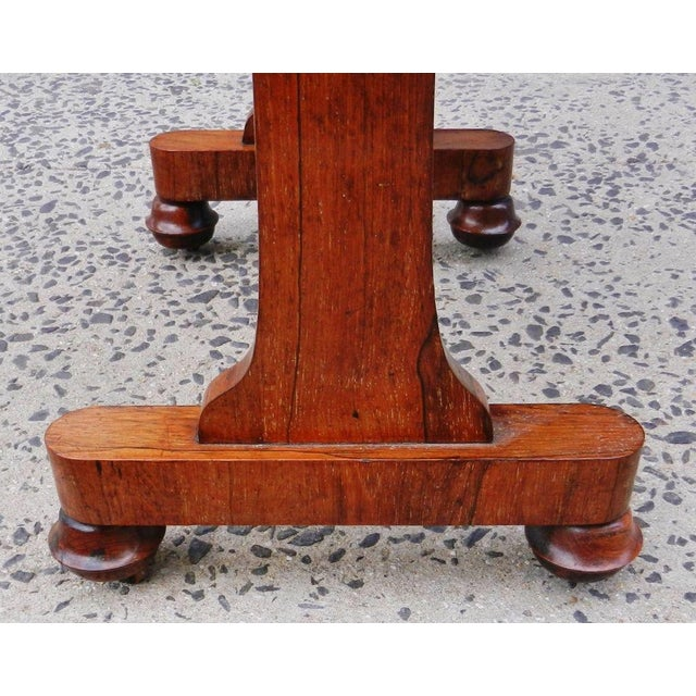 19th Century Antique English Rosewood Regency Basket Sewing Table For Sale - Image 9 of 11