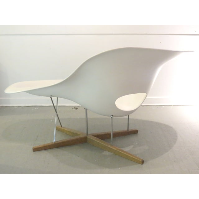 Eames Vintage Eames Vitra White La Chaise Chair For Sale - Image 4 of 10
