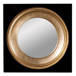 Modern Gemma Black & Gold Mirror
