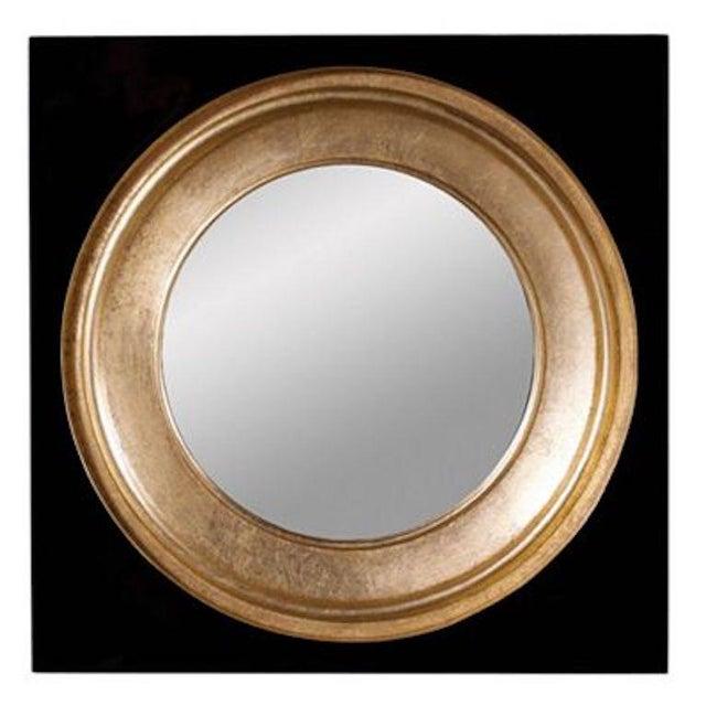 Modern Gemma Black & Gold Mirror For Sale
