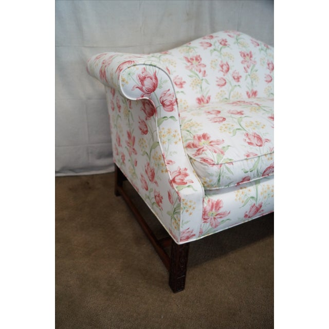 Antique Chippendale Style Mahogany Frame Sofa - Image 7 of 10