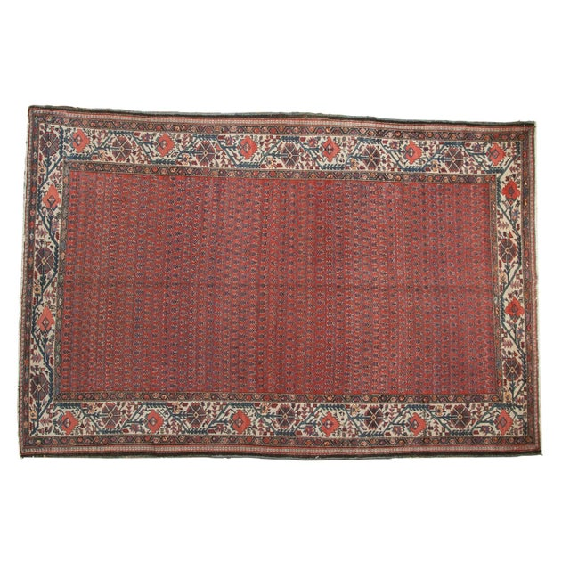 "Vintage Malayer Carpet - 5'8"" X 8'5"" For Sale - Image 12 of 12"