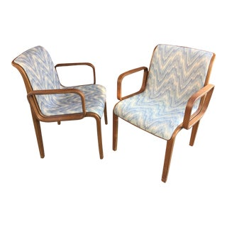 Bill Stephens Knoll Armchairs - A Pair