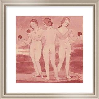 """Small """"Three Graces"""" Print by Michelle Farro, 20"""" X 20"""" For Sale"""