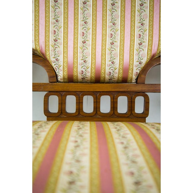 Art Nouveau Settee Sofa in the Style of Iberto Issel For Sale - Image 10 of 11
