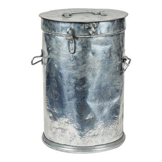 French Industrial Metal Factory Candy Bin or Stool For Sale