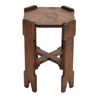 Arts and Crafts Era Side Table/Pedestal Plant Stand For Sale