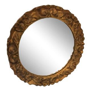 Vintage Italian Round Florentine Mirror For Sale