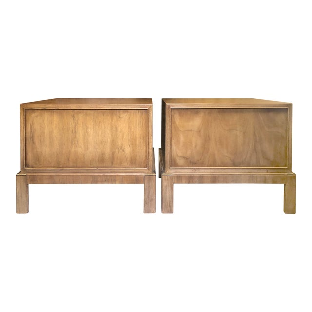 Drexel Maple & Brass Campaign Nightstands - a Pair For Sale In Buffalo - Image 6 of 12
