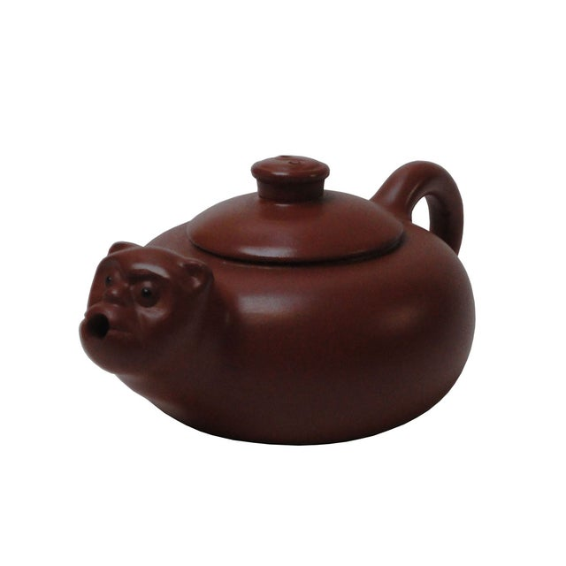 Chinese Purple Sand Clay Monkey Face Teapot - Image 3 of 4