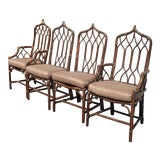 Image of Set of Four Vintage Mid Century Modern McGuire Bamboo Rattan Dining Chairs For Sale