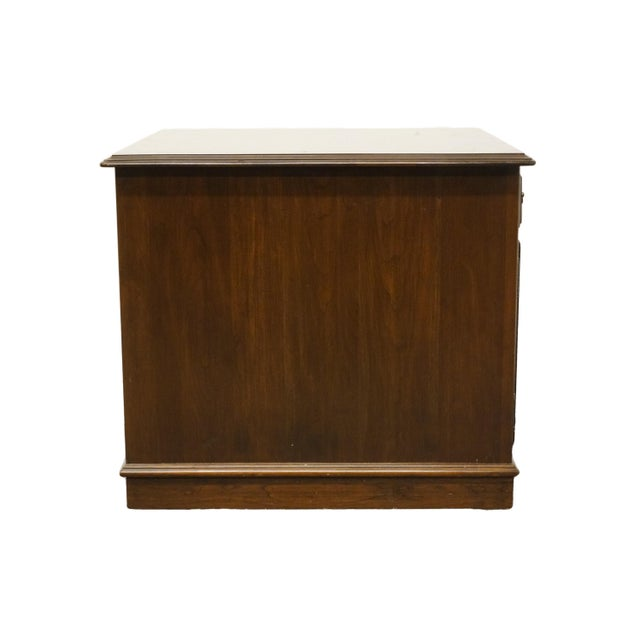 Ethan Allen Georgian Court Solid Cherry Storage Accent Table For Sale - Image 10 of 12