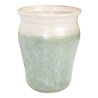 1990s Green Pottery Urn For Sale