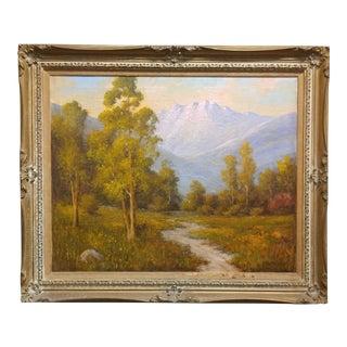 Herbert Sartelle California Eucalyptus Oil Painting, 1920s For Sale