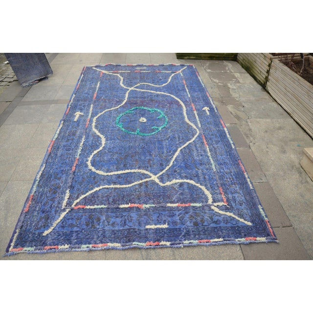 Turkish handmade Anatolin vintage rug. We make our own design and make it with needle and using diffrent colorful yarns.