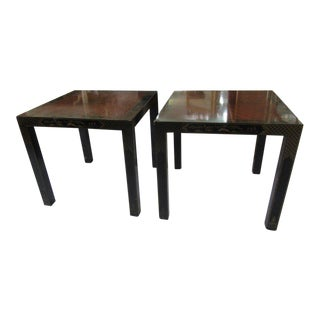 Asian Inspired Drexel Side Tables - a Pair
