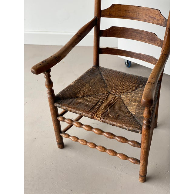 Early 20th Century Early 20th Century Extended Ladder Farm Back Chair For Sale - Image 5 of 9